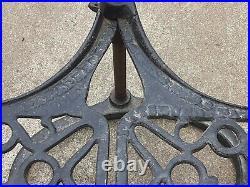 Antique Cast Iron Stove Pipe Warming Rack Shelves Demmler Bros Pittsburgh