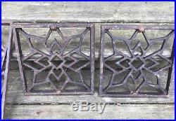 Antique Cast Iron Victorian Retro Grate Floor Register Decorative Vintage Stove