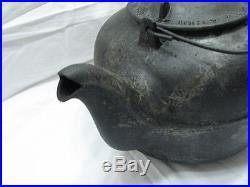 Antique Cast Iron Whiteman & Cox Cook Stove Top Teapot Tea Kettle