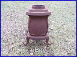 Antique Champion No. 118 Cast Iron Wood Burning Stove Small Cabin Cottage Decor