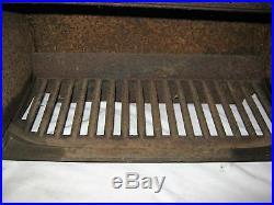 Antique Country Primitive Boston Stove Cast Iron Tin Oven Roaster Fire Hearth Us