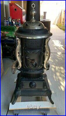 Antique DASH Excelsior No. 517 Cast Iron Wood Burning Stove Cabin Cottage Decor