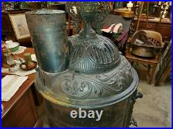 Antique Ex Large Cast Iron 1800's Wood Stove 63 tall Very Nice