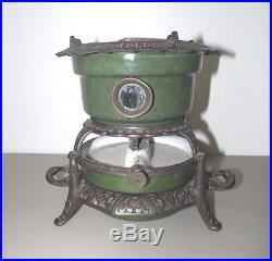 Antique Georg Haller Ottensen Germany Cast Iron Enamel Kerosene Burner Stove