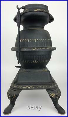 Antique Grey Cast Iron Casting Co Spark Salesman Sample PotBelly Miniature Stove