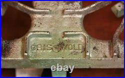 Antique Griswold 202 Cast Iron 2 Burner Gas Stove ^1959
