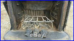 Antique HEARTH CRAFT Wood Burning Stove Fireplace Claw Feet Brass Finials USA
