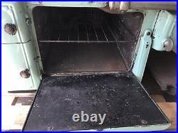 Antique HOME Jadeite & Cream Cast Iron Wood/Gas Cook Stove Cribben & Sexton Co