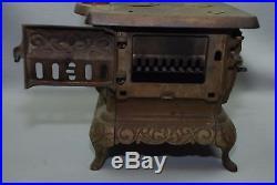 Antique IDEAL No. 5 Cast Iron Salesman Sample Large Child's Toy Cook Stove