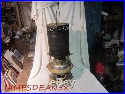 Antique Kerosene Oil Heater Stove Ornate Cast Iron & Tin Unusual