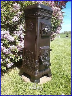 Antique L Lange Danish Ornate Cast Iron Coal Stove