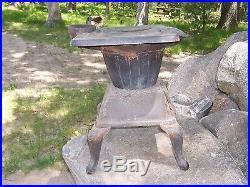Antique Little Joe Cast Iron Wood / Coal Burning Stove Small