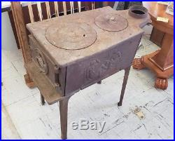 Antique Made in Norway Jotul 380 Cast Iron Wood Cook Stove
