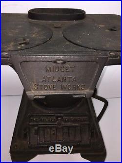 Antique Midget Atlanta Cast Iron Laundry Stove #8 Good Antique Condition