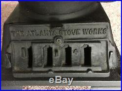 Antique Midget Cast Iron Stove / Atlanta Stove Works