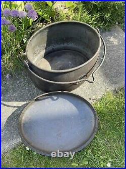 Antique Old Cast Iron Cooking Pot Stove Gypsy 3 1/2 Gallon A Kenrick & Sons