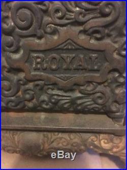 Antique Original Large ROYAL Cast Iron Toy Stove 6 Burners Salesman Sample 1900s