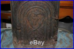 Antique Ornate Cast Iron Coal Stove Front Door-Architectural Design