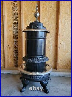Antique Ornate Estate Oak Series No. 314 Cast Iron Parlor Stove F&L Kahn Bros