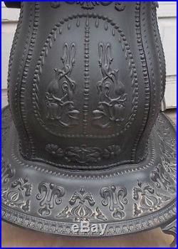 Antique Petite Victorian Cast Iron Parlor Stove De Soto Parlor No. 1