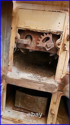 Antique Pinkus & Sons Sunshine Cast Iron Coal Stove, Oven, Griddle