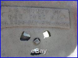 Antique Potbelly Railroad Stove Cast Iron J C Penney Wood Burning Coal Burner