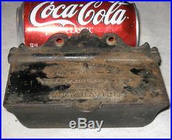 Antique Primitive 1860 D. M. Co. New Haven Cast Iron Match Safe Holder Stove Box