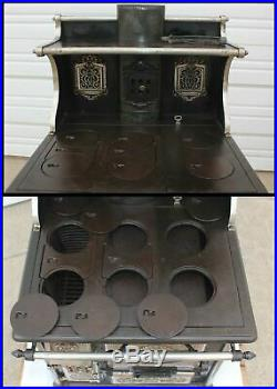 Antique Quick Meal SALESMAN SAMPLE Cast Iron COMPLETE Cookstove Child NOT A TOY