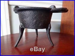 Antique Revolutionary War Soldiers Cast Iron Spider Camp Stove Skillet Pot Pan