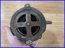 Antique Round Oak Stove Indian Doe Wah Jack Flue Heat / Draft Control