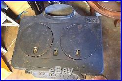 Antique ST. Clair Cast Iron Laundry pot belly wood Coal stove