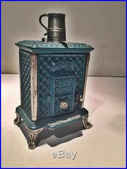 Antique Salesman Sample Radiolette Godin Miniature Stove Rare Cast Iron