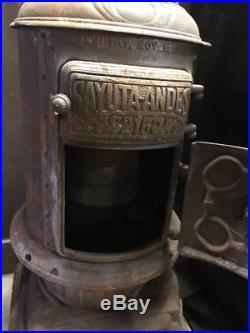 Antique Sayuta-ANDES #216 Cast Iron Pot Belly Coal Stove