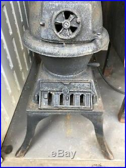 Antique Small Cast Iron Pot Belly Coal / Wood Stove