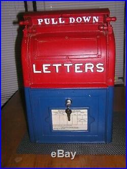 Antique US Postal Mailbox, Cast Iron, Danville Stove & MFC CO, Post Office