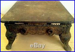 Antique Very Rare W. M. Crane Co. NY. Large Cast Iron Sad Iron Heater/griddle HTF
