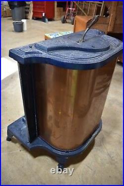 Antique Victorian Cast Iron Parlor Stove, blue Fire Light No 16 Reading Pa