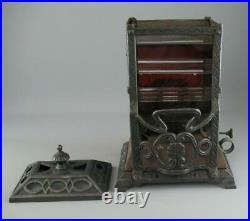 Antique Victorian Cast Iron Wright & Butler Petroleum Stove Oil Lamp Heater 1887