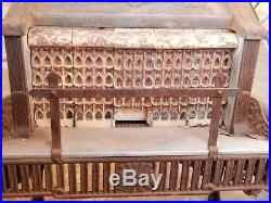Antique Victorian Radiant Heater Pioneer Gas Stove Ceramic Fire Bricks Cast iron