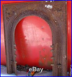 Antique Victorian USA Cast Iron Fireplace Surround Home Hearth Stove Fire Panel