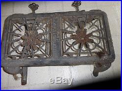 Antique Vintage CAST IRON No. 102 ERIEZ STOVE & MFG. CO. Erie Pa, gas, 2 port