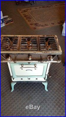 Antique Vintage Gas Apartment Size Stove Cast Iron Burner GRATE