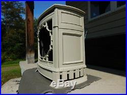 Antique Wood Stove Style Cast Iron Heater Radiator Space Kerosene Cover Grate