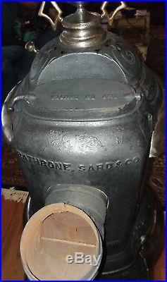 Antique cast iron Acorn Oak 150 potbelly parlor stove