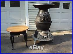 Antique cast iron pot belly stove, Station Heater From Caboose Boston & Maine RR