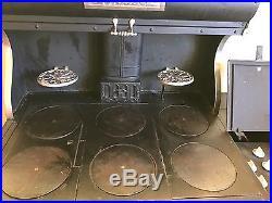 Antique cast iron stove restored