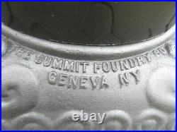 Antique parlor stove Hutch cast iron coal pot belly Summit Foundry Geneva NY