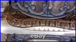 Antique wood burning cast iron Parlor Stove Keeley Co Pa. Model Columbian Joy
