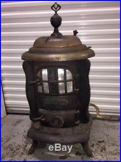 Antique wood burning cast iron Stove Keeley Co PA Columbian Censor FREE SHIPPING