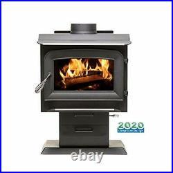 Ashley Hearth AW1120E-P 1,200 Sq. Ft. EPA Certified Pedestal Wood Burning Stove
